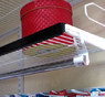 Декоративная планка для сеточных полок 603 x 28 x 30 черная